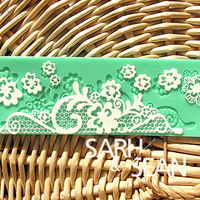 S&S L023 flower instant lace mold cake mold silicone baking tools kitchen accessories decorations for cakes Fondant