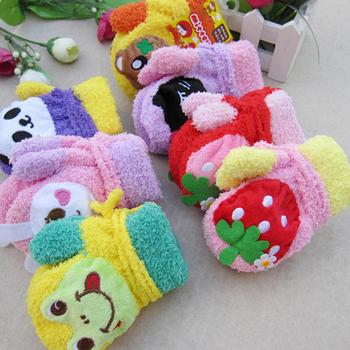 Free Shipping, Cartoon Animal Pattern Gloves for Kids, Hanger Stripe,Full Finger Gloves,Warm for Winter, PSM045