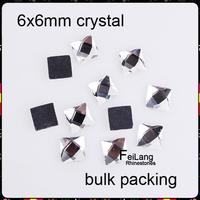 FA0636  NEW ARRIVE square Hotfix flatback Rhinestones 6x6mm crystal 40gross/bag EMS Free Brides stones Wholesale
