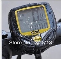 Free Shipping 80 pcs/lot Waterproof  Wireless Cycle Computer Bicycle Bike Meter Speedometer Manual Version