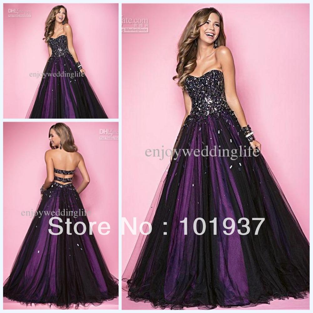 Black and Purple Short Prom Dress – fashion dresses