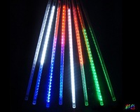 free shipping 10pcsx meteor tube 50cm 72leds DC12V waterproof outdoor christmas light snow fall lighting
