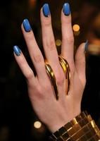 2013 New Design  18K GPD Long Unique Trendy Steam Punk Cusp Finger Rings Fashion HOT Punk Jewelry BJ006