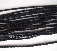 Free ship! 100pieces black braided silk thread silk cord necklace pendant chain