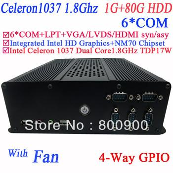 Wholesale rdp server for windows Linux with LPT 6* COM intel HD graphic Intel Celeron 1037 Dual core 1.8GHz NM70 1G RAM 80G HDD