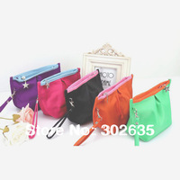 Free shipping 250PCS/LOT Korean cute Portable Wallet /coin bag/pouch/coin purse/key holder/small Purse/ cosmetic bag 5 color