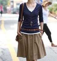 2013 autumn saias skirts 3XL medium casual plus size pleated skirt ol women's expansion skirt bust skirt