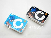 Cheap Price Cartoon Plastic Mini Clip MP3 Player Best Gift For Children Kids 20pcs/lot Free Shipping