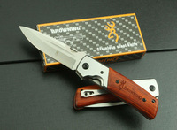 BROWNING DA50 folding knife survival pocket knife camping knife tactical wood handle 3Cr13 55HRC free shipping