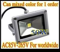 6PCS/Lot 110V 220V 50W LED Flood Light 240V Warm White High Power 4700LM Lights LW2