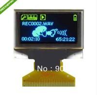 10 PCS/0.96' 128X64 COG OLED LCD LED Display Module blue+yellow  free shipping