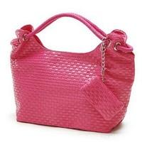 New fashion woven handbag shoulder bag PU  #8805