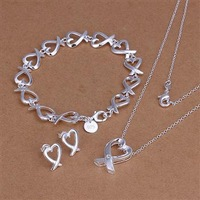 LKNSPCS203 // Free shipping silver set, 925 silver plated sets, wholesale fashion hot sale 925 Silver jewelry, new promotion