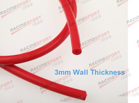 """6mm (1/4"""") Silicone Vacuum Hose RED Pipe """"10 Feet"""" High Performance"""