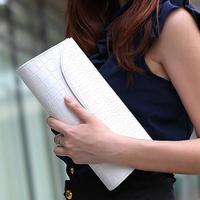 Messenger bag big wallet fashion check fashion chain women's day clutch  Free shipping