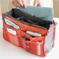 2014 Hot 13 Colors Make up organizer bag Women Men Casual travel bag multi functional Cosmetic Bag storage bag in bag Handbag