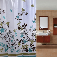 2pcs/lot Coffee Tree Shower Curtain Waterproof Transparent 12 Shower Curtain Hook Peva