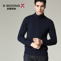 K-boxing men's clothing male pullover casual stand collar loose knitted sweater fyyx4640