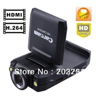 Free Shipping Portable Vehicle DVR Recorder Camera K2000 Car DVR with HDMI 1080P 2.0 Inch HDMI Out 270 Degree rotating