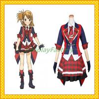 Free Shipping Custom Made AKB0048 Anime Cosplay Yuko Lolita Dress Party Costume,1.5kg/pc