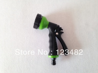 Free shipping (200pieces/lot) 6 function water gun/sprayer nozzle with fast connector  for  expandable hose/garden hose