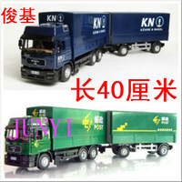 Free shipping Stacking container car mail car 2 alloy toy truck model  children toys