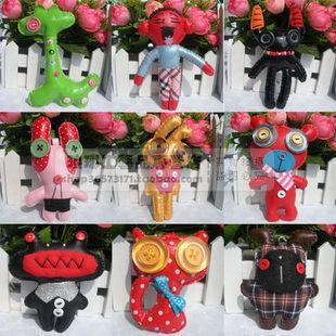 Button doll pendant mobile phone pendant chain bags dolls No.2 pu 8-15