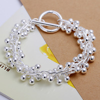 New Arrival! 925 Silver Fashion Jewelry The Grape Stick TO  Bracelet +Free Shipping