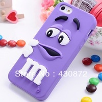 For iphone 4 4s cases M&M's chocolate candy rubber silicone cartoon cell phone case covers to iphone4s free shipping