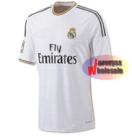 Real Madrid Jersey 2013/2014 Thailand Quality White Home Custom Real Madrid Soccer Jerseys for men Free Shipping