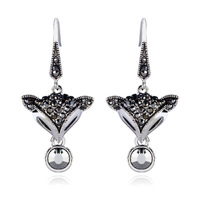 czech rhinestone fox earrings female fashion stud earring accessories holiday gift free shipping