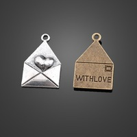 18x28mm Love Letter Necklace Pednants 50pcs/lot Free Shipping