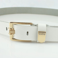 New arrival Women brief women's cowhide genuine leather belt female women's white strap fashion