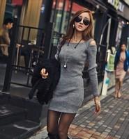 2013 autumn sexy slim dress strapless long-sleeve slim hip cotton fashion dress for women size M/L/XL