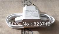 100% genuine Original 2A US EU Plug Wall Charger + MICRO USB Cable + mic earphone For Samsung Galaxy S4 I9500 S3 I9300  N7100