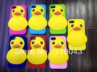 for iphone5 phone shell small yellow duck silicone case cartoon fashion new listing free shipping