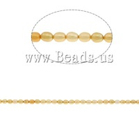 Free shipping!!!Rice Cultured Freshwater Pearl Beads,Bling, yellow, 5-6mm, Hole:Approx 0.8mm, Length:Approx 15.7 Inch