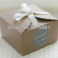 Mini kraft paper cake box 9cmx9cmx6cm