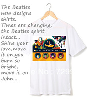 Beatles we are lived in yellow submarine thick cotton t shirt vintage fashion