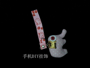 DIY creative button mobile phone pendant cute Elephant Baby Doll