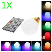 High Power AC85-265V E27/E14/B22 10W RGB Remote Controlled LED Ball bubble bulb Lighting Gold or Silver shell Free shipping