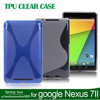 For 2013 google nexus 7 2 generation protective case ultra-thin soft TPU flat shell free gift