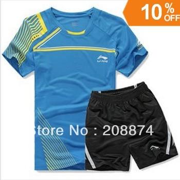 free shipping New 2012 Li Ning Men Table Tennis 43120 Polo Shirt/Shorts