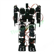 17DOF Biped Robotic Educational Robot Kit Servo Bracket Ball Bearing Black(China (Mainland))