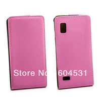 Optimus L9 Flip case, New Flip Cover Genuine Leather Case For LG P760 L9 1pcs/lot Free shipping