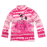 FREE SHIPPING F3092# Nova baby girls  18m-6yrs clothing cotton long sleeve with printing  t shirts Wholesale,2013 New Hot