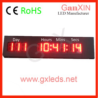 outdoor countdown count up led clock