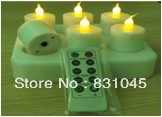 Safety with rechargeable battery  LED Smokeless flameless Flickering Electric 6 pcs/ lot LED  Candle Light / home Candle lamp,