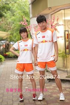 free shipping New 2013 men li ning sportswear Table Tennis/ badminton Polo Shirt+shorts