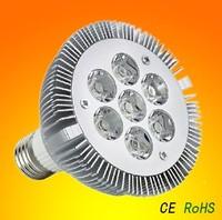 Dimmable 20pcs/lot Excellent packing 7X3W Par30 Par38 LED spot lamp E27 socket 21W Dimmable-Free ship